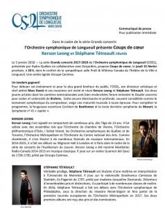 Communiqué OSDL 5 janvier 2018