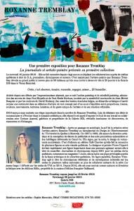 Communiqué Roxanne Tremblay 10 janvier 2018